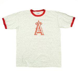 CSA Men's Shirt MLB Los Angeles Angels Ringer XL